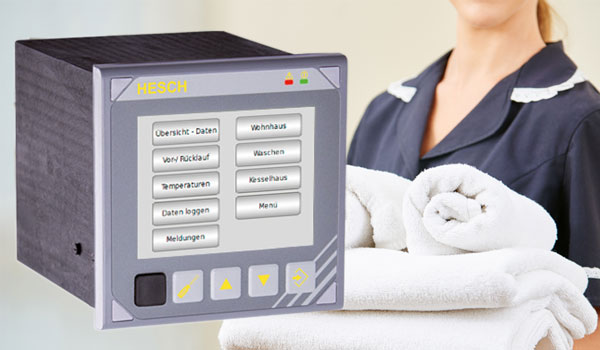 Multifunctional controller from HESCH in use at a laundry