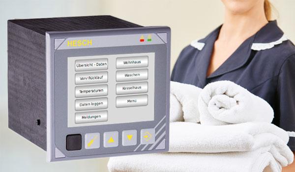 Multifunktionscontroller von HESCH im Einsatz bei einer Waescherei