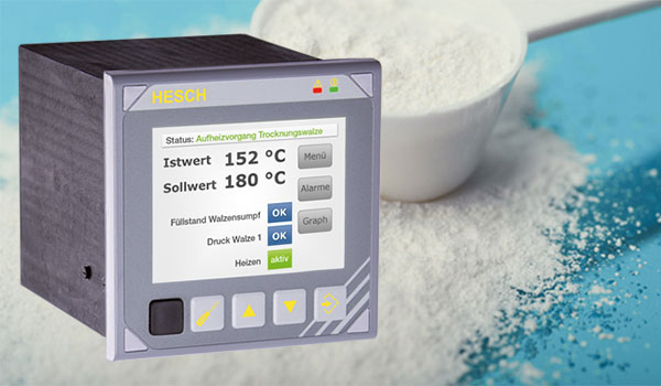 Multifunction controller from HESCH optimises the drying process of casein